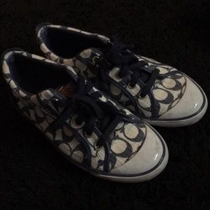 Coach Navy & White Sneakers